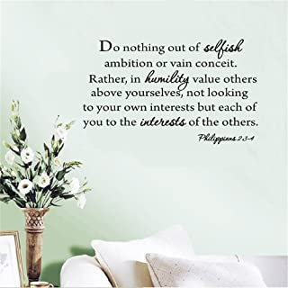 withy Wall Decal Sticker Art Mural Home Dcor Quote Do Nothing Out of Selfish Ambition
