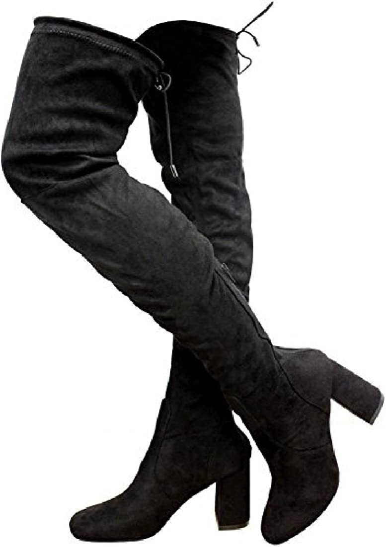 Womens Ladies Thigh HIGH Over The Knee