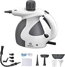 MOOSOO Steam Cleaner, Multi-Purpose Steam Cleaner for Home Use, Handheld Steamer with 9-Piece Accessories, Ideal for Uphol...