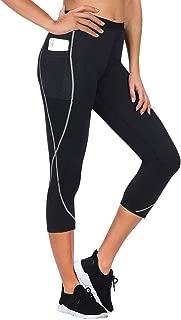 Women Neoprene Weight Loss Capri Pants Sauna Slimming Hot Thermo Fat Burning Sweat Legging with Side Pocket