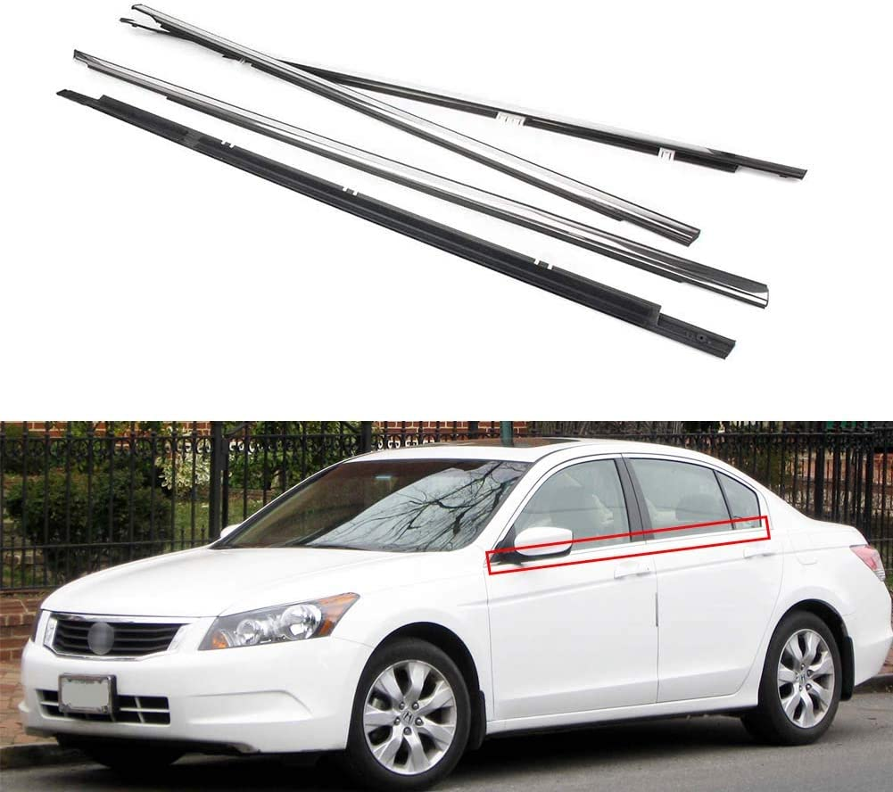 Loong Reform 4Pcs Weatherstrip Car Outside Window Seal Compatibl 新商品 最新