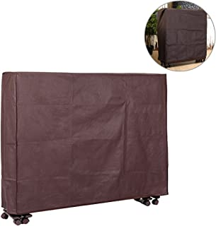 Exttlliy Thickening Non-Woven Fabric Folding Bed Dust Proof Cover Rollaway Bed Dustproof Protective Covers Coffee (Small)