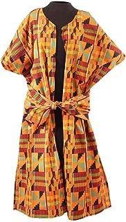 African Kente Women's Jacket with African Headscarf, Ankara Coat, Kente Kaftan, African Print Shirt, African Women's Clothing, Kente Shirt