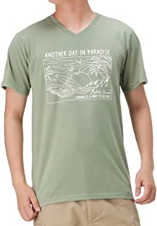 半袖Tシャツ Tシャツ 半袖 Vネック メンズ サーフ半袖Tシャツ プリントTシャツ サーフ サーフィン EJ203-MC222