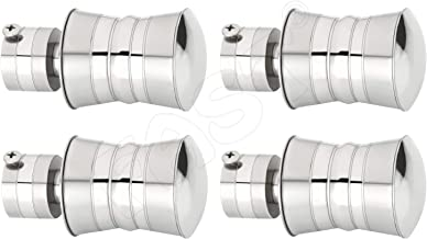 FAST Premium CBS76 SS TT Stainless Steel Curtain Rod Bracket finials for Window and Door, Curtain Home Decor Accessories. (4)
