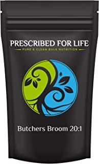 Prescribed for Life Butchers Broom - 20:1 Natural Root Powder Extract (Ruscus aculeatus), 2 oz (57 g)