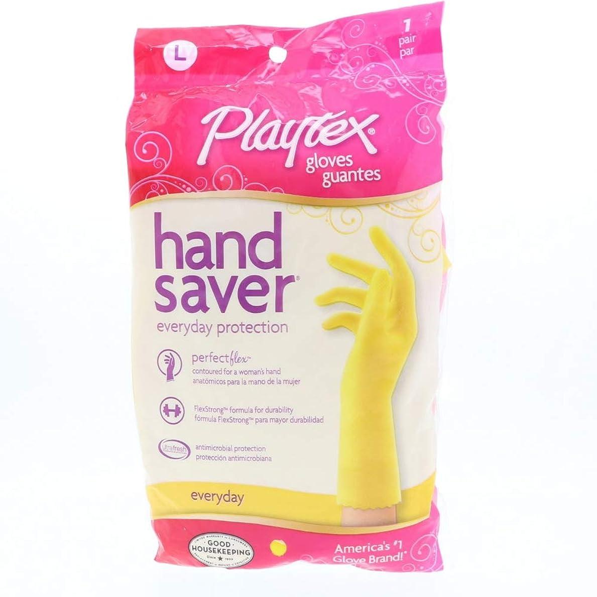 驚きはちみつ法令Playtex HandSaverグローブ毎日保護大、1ペア