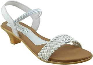 Leatherwood 1 Women's White Sling Back Kitten Heels
