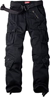 AKARMY Must Way Women's Cotton Casual Work Pants Camouflage Cargo Pants with 8 Pockets