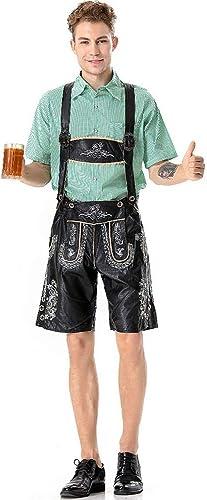 DRAKE18 Costume Bavarois Lederhosen Oktoberfest Bavarois Traditionnel Allehommed pour Hommes