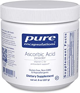 Pure Encapsulations - Ascorbic Acid Powder - Hypoallergenic Vitamin C Supplement for Antioxidant Support* - 8 Ounces