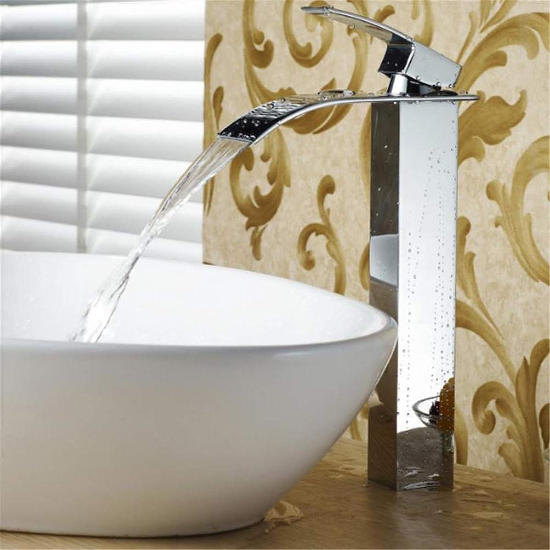 Wasserhahn Küche Waschbecken Badezimmer Wasserfall-Badezimmer-Hahn-heier und kalter Mischer-Wasserfall-Bassin-Wannen-Hahn