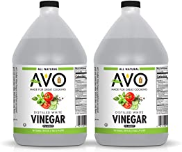2-PK AVO Pure Natural Distilled White Vinegar – 5% Acidity For Cooking and Cleaning Purposes (2 bottles, 1 gallon each)