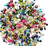 Assorted Beads, Loose Beads for Craft DIY Projects, Beading Kit, Pearls and Millefori Beads, Jewelry Making...