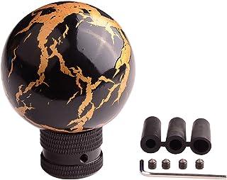 Sport family Ball Form Universal Auto Schaltknauf Schaltkopf für Manuelles oder automatisches Getriebe Ohne Sperrknopf(schwarz)