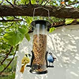 Bird feeder Vogelhäuschen im Freien, Hängende automatische Vogelfütterung für Balkongarten, PVC Metall Rostschutz Belüftung Vogelhäuschen