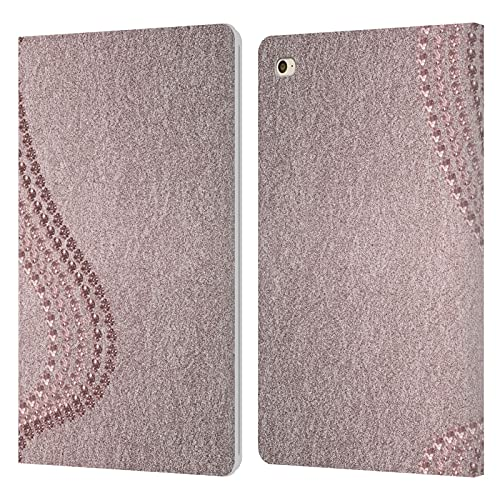 Head Case Designs Officially Licensed LebensArt Crystals Various Rose Gold Leather Book Wallet Case Cover Compatible With Apple iPad mini 4