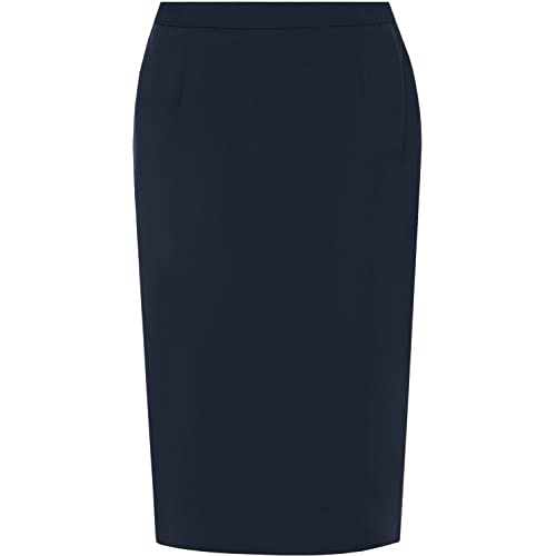 d7a9f586f4 WearAll Womens Plus Lined Black Slit Pencil Skirt Office Work Formal Lined  12-22