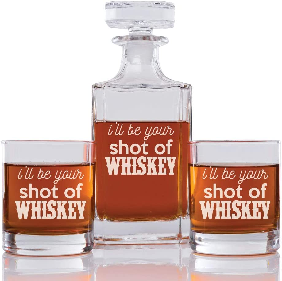 Abby Smith I'll Be Your Japan Maker New Shot Whiskey Decanter and Ro San Antonio Mall Engraved Of