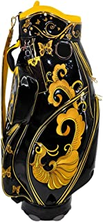 Golf Bag, Lightweight and Portable, Leather Fabric, Exquisite Pattern, Multi-Color Optional happyL (Color : Yellow)