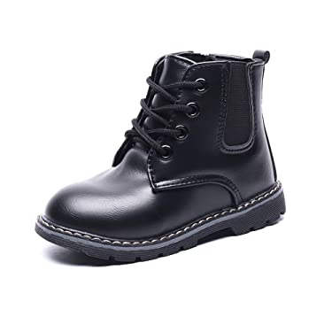Chiximaxu Kid Girls Outdoor Ankle Boots Toddler Zip Waterproof Walking Shoes for Boys