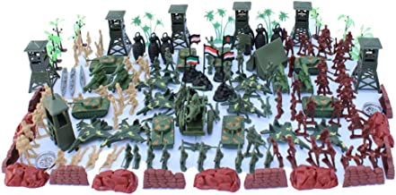 Eamoney 170Pcs/Set Warriiors Models Figures Playset, Army Men Toy Model Kit,Plastic Mini Army Soldier Figure Model Play Wartime Scene Accessories
