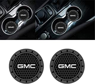 Wall Stickz 2.75 Inch Diameter Oval Tough Car Logo Vehicle Travel Auto Cup Holder Insert Coaster Can 2 Pcs Pack fit gmc Accessory