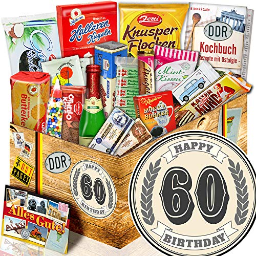 60 Geburtstag + Geschenk Süßigkeitenbox + 60 Geburtstag Geschenke Ideen