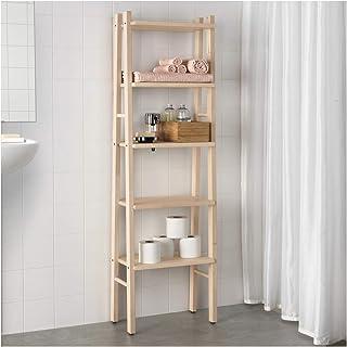 Opulence Trading - Estantería abierta de madera de abedul con 5 estantes, ideal para almacenamiento extra o exhibición, 150 x 46 cm