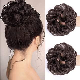 MORICA Messy Bun Hair Scrunchies 2PCS Messy Bun Hair Piece for Women Curly Wavy Scrunchy..