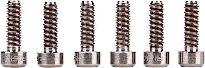 6 pernos de acero para bicicleta de monta/ña de carretera de monta/ña M5 x 18 mm.
