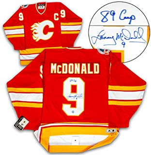 Lanny McDonald Calgary Flames Signed 1989 Stanley Cup Authentic Vintage Jersey