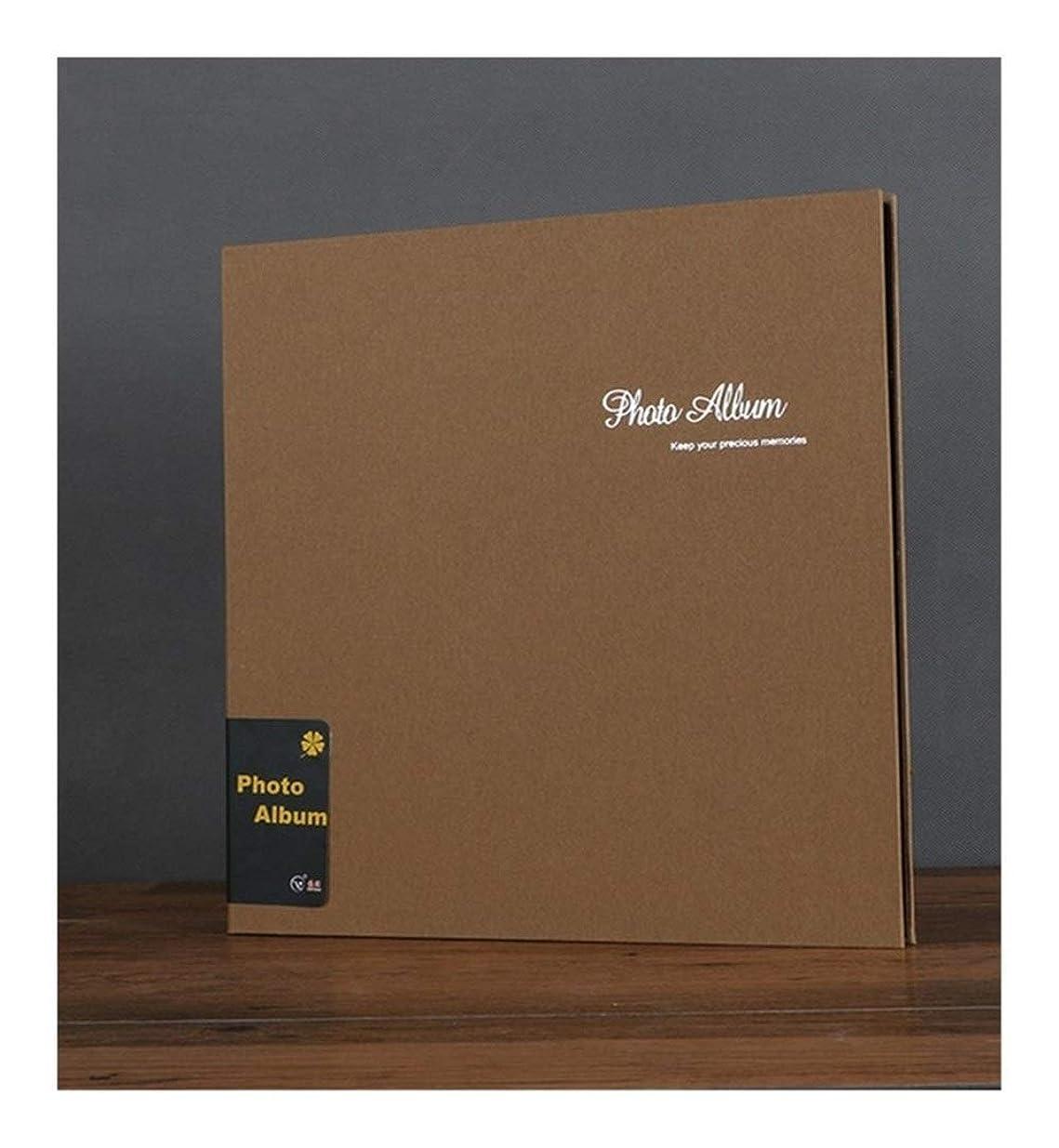 この腐ったに関してTMYQM 18インチの自己粘着フィルムは、誕生日ギフトの恋人スクラップブックのアルバムマニュアル画像アルバムキッド成長記念フォトアルバムをカバー (Color : Gold)