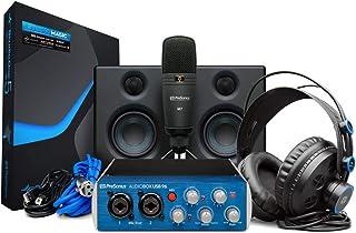 PreSonus AudioBox Studio Ultimate Bundle Complete Hardware/Software Recording Kit with Studio Monitors,Blue