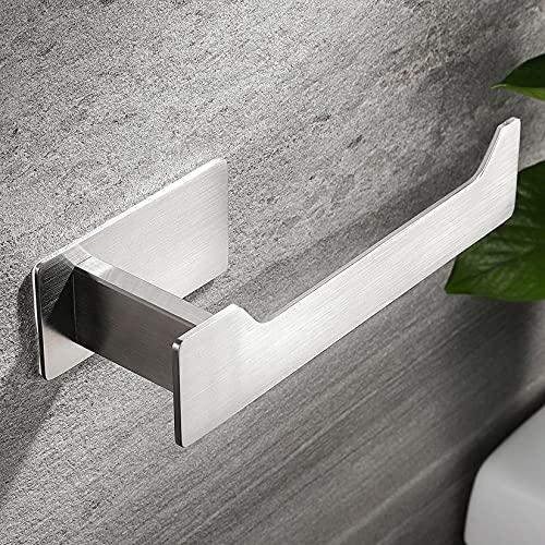 RUICER Toilettenpapierhalter Ohne Bohren Klopapierhalter Edelstahl WC Rollenhalter Papierhalter Selbstklebend für Badezimmer Toilette