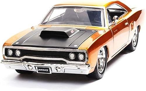 Envíos y devoluciones gratis. KaKaDz Wei KKD Escala Modelo Simulación Simulación Simulación Vehículo 1 24 Plymouth Car Toy Car Model Simulación de Aleación de Juguete Coche Regaño de Cumpleaños Colección de Decoración del Hogar ( Color   naranja )  envío gratuito a nivel mundial
