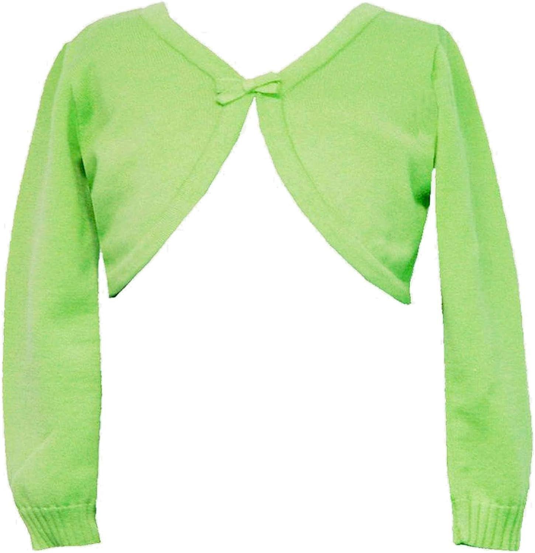Rare Editions Big Girls Tween 7-16 Lime-Green Long-Sleeve Knit Cardigan Sweater/Shrug