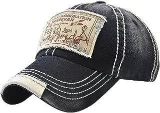 Mens Vintage Distressed Denim Cotton Baseball Cap Trucker Hat