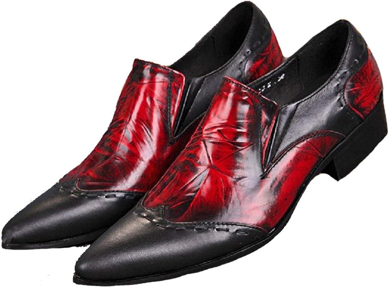 Omslag plus storlek 5 5 5 -12 Vintage Röd äkta läder Loafers herr skor  hög rabatt
