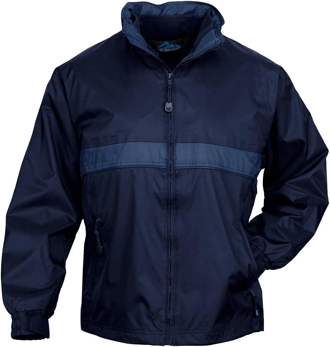 Tri-mountain Mens waterproof nylon 3-in-1 jacket. - NAVY / MOUNTAIN BLUE - XX-Large