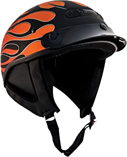Zox Alto Custom Hot Rod Adult Street Motorcycle Helmet - Matte Orange/Large