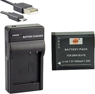 DSTE DMW-BLH7 Li-Ion Batería Traje y Cargador Micro USB Compatible con Panasonic Lumix DMC-GM1 DMC-GM1D DMC-GM1K DMC-GM1KD DMC-GM1KEB