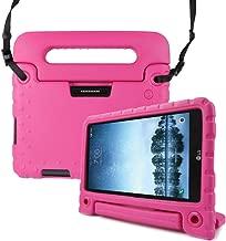 REGOKI T-Mobile LG G Pad X2 8.0 Plus/Sprint LG G Pad F2 8.0 Case, Shoulder Strap Lightweight Handle Cover fit LG GPad X2 8.0 Plus Model V530 / LG GPad F2 8.0 Model LK460 8-Inch Tablet (Rose)