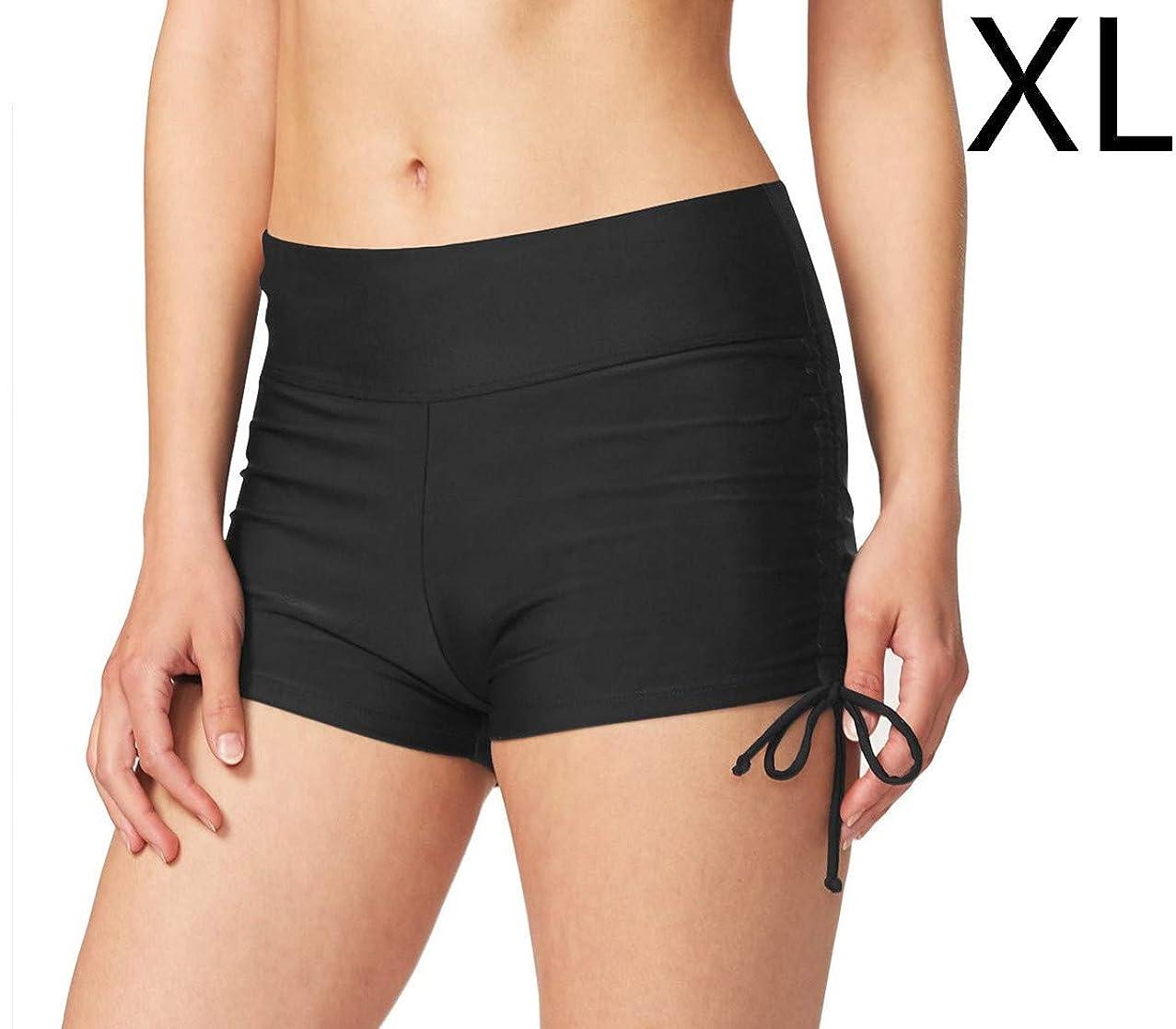 StyleZ Women's Beach Adjustable Tie Shorts Swim Boradshorts Bikini Bottom for Swimming Yoga Running Sport