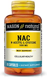 Sponsored Ad - Mason Natural, NAC Amino Acid Capsules, 60 Count, Dietary Supplement Supports and Protects Cellular and Imm...
