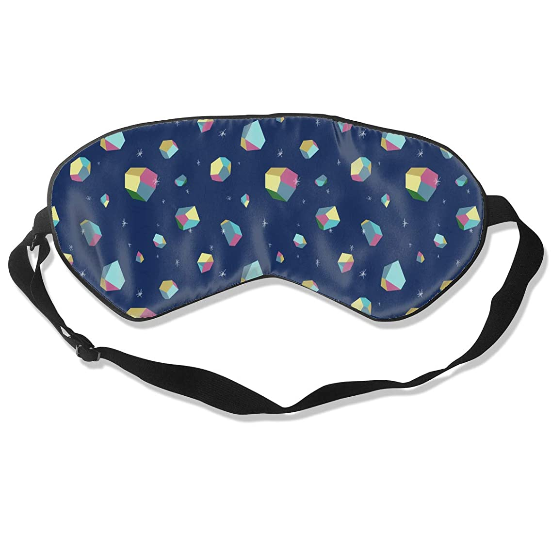 EEGOGO Many Color Polygons Sleep Mask Made of Mulberry Silk,Non-Toxic, Odorless and Harmless,100% Silk Sleep Mask Comfortable,Soft Blindfold Eye Mask Good for Travel and Sleep