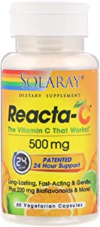 Solaray, Reacta-C, 500 mg, 60 Vegetarian Capsules