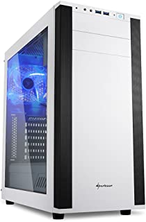 Sharkoon M25-W - Caja de Ordenador, PC Gaming, Semitorre ATX, Acrílico, Blanco