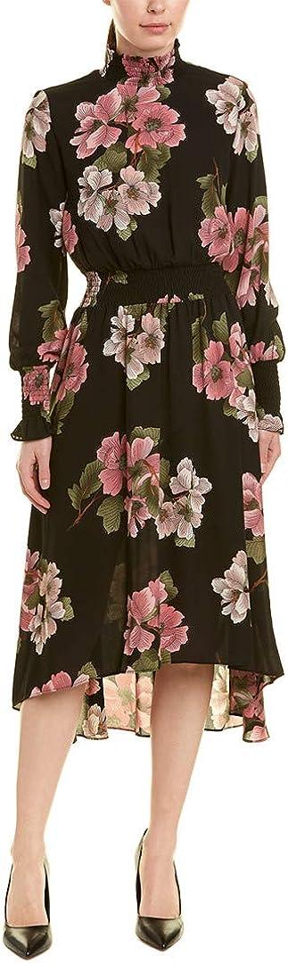 Nanette Nanette Lepore Women's Ls Dress Smock Dtls Hi Low