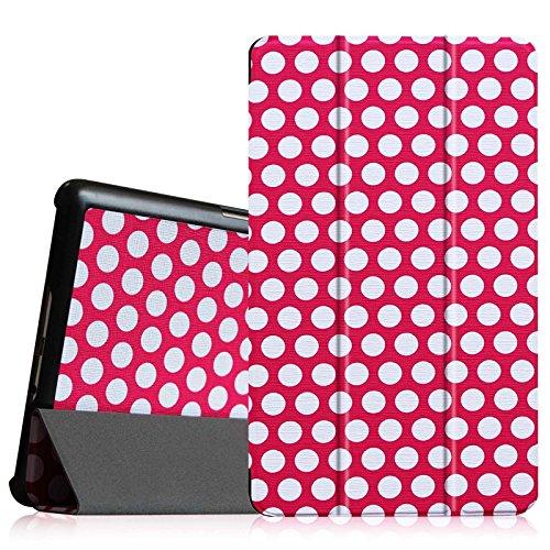 Fintie Hülle Hülle für Samsung Galaxy Tab S 8.4 - Ultra Schlank superleicht Ständer SlimShell Cover Schutzhülle Etui Tasche mit Auto Schlaf/Wach Funktion, Polka Dot